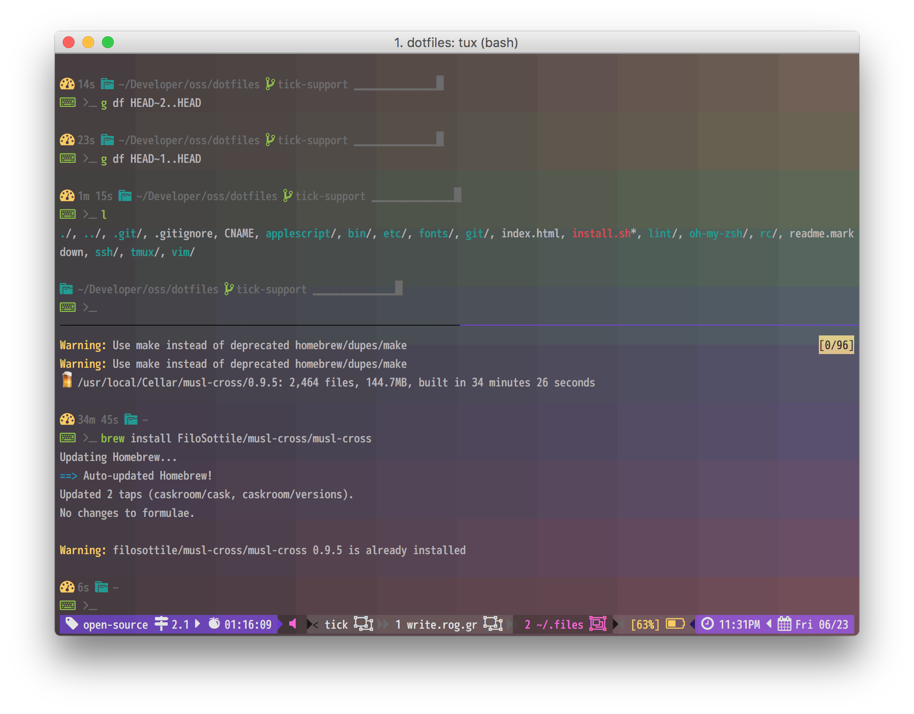 Hopscotch in my terminal