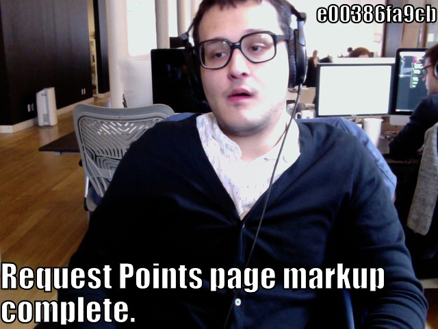lolcommit - e00386fa9cb - Request Points page markup complete